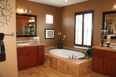 Model master bath, stone and tile Santa Barbara, Santa Clarita Valley, Ventura, Oxnard.