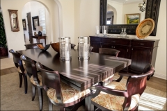 12_Formal_Dining_Room_Wooden_Dining_Table_6_Entryway_french_travertine_floor_4_Wooden_Bar_Stools_Copper_Backsplash_bar_Santa_clarita_Valley_Santa_Barbara_Ventura