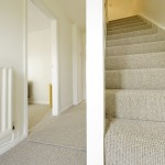 Quality carpeted hallway and stairs.
