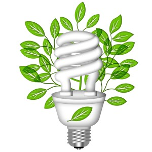 Green energy savings with fluorescent bulbs
