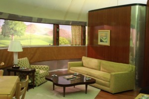 Dymaxion House living room view