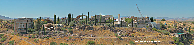 Panorama vista of Arcosanti, Santa Clarita Valley Interior Designer