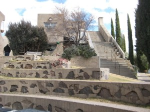 Stairs to structures at Arcosanti, Santa Clarita Valley Interior Designer