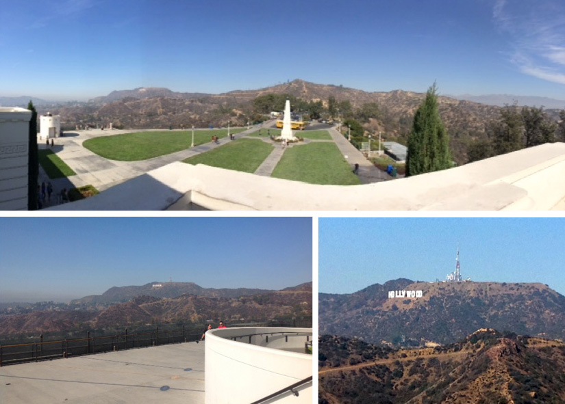 East Terrace vistas of Hollywood Hills and Hollywood Sign