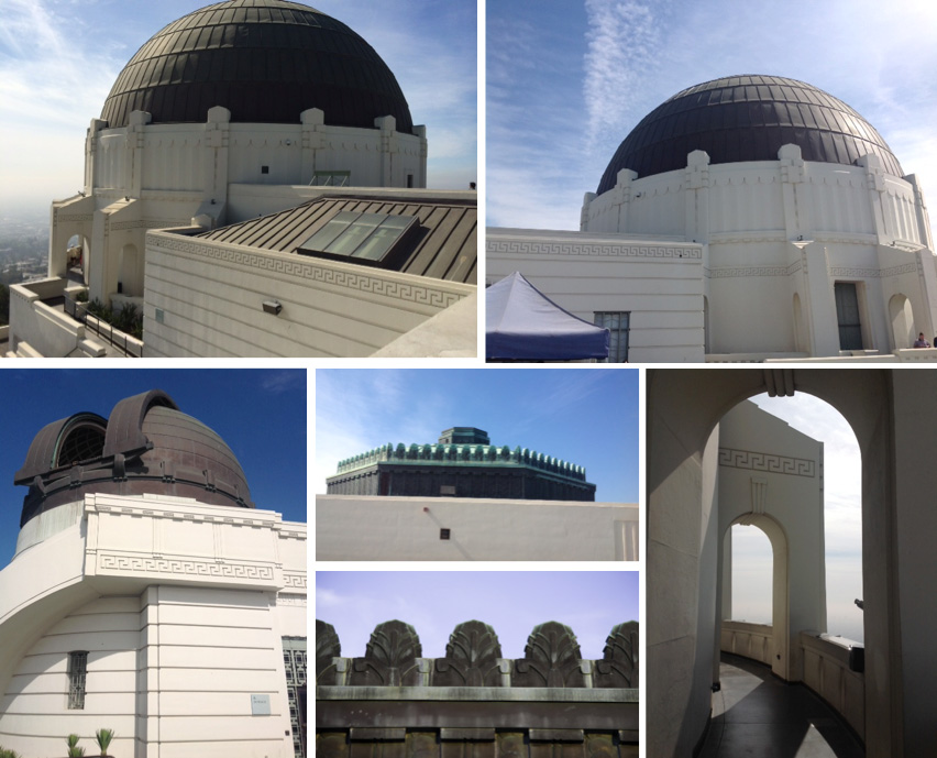Views of Terrace and Domes' Art Deco architectural details