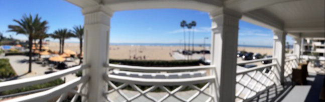 Panoramic vista from upstairs balcony.