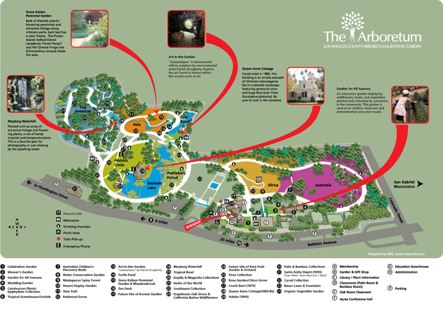 Visitor Map of the Arboretum and Botanic Garden.