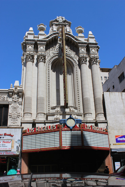 LA Theatre's French Baroque façade.